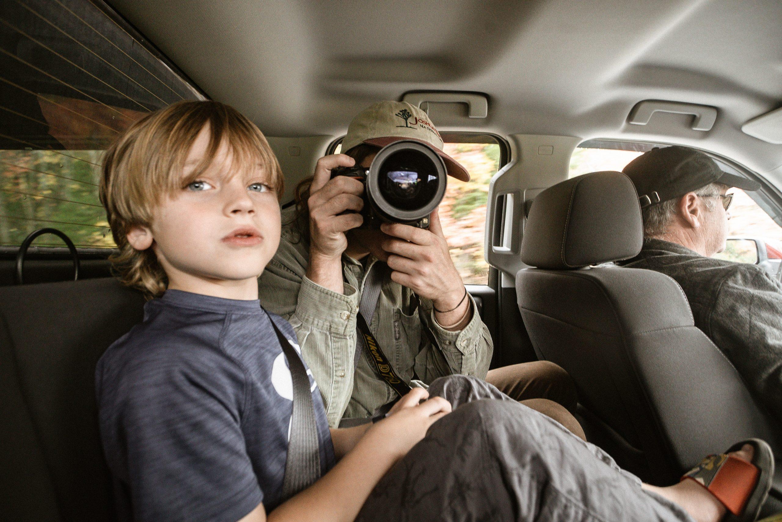 Viaje cómodo y seguro con niños.